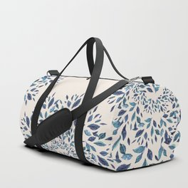 Indigo Leaves Mandala Duffle Bag