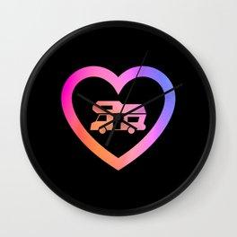Motorhome Heart | Camper van Owner Gift Wall Clock