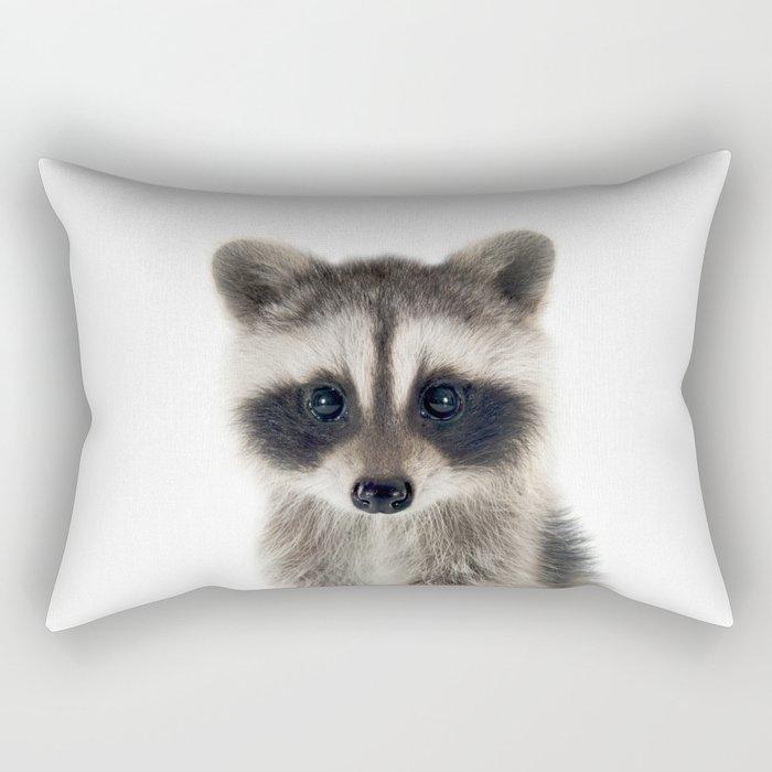 Baby Racoon Rectangular Pillow
