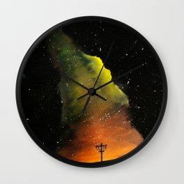 Orange Horizons Discing Wall Clock