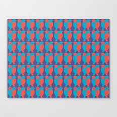 BLUE/RED BIRDS  Canvas Print