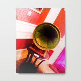 Phonograph to tango. Metal Print