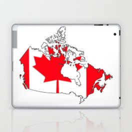 Canada Map with Canadian Flag Laptop & iPad Skin