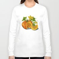 pumpkin Long Sleeve T-shirts featuring Pumpkin by ElenaTerrin