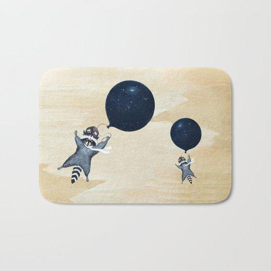 Raccoon Balloon Bath Mat
