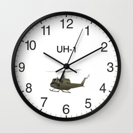 UH-1 Huey Helicopter Wall Clock