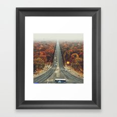first we take manhatten than we take berlin I - autumn Framed Art Print