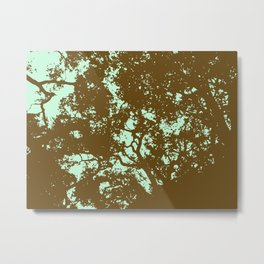 Mint and Brown Forest Metal Print
