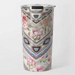 Floral Aztek Pattern 4 Travel Mug