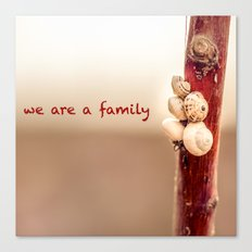 We Are a Family Canvas Print