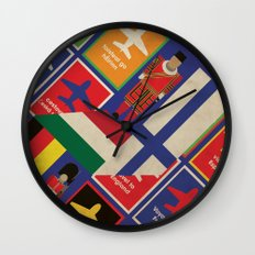 EU Travel Poster Wall Clock