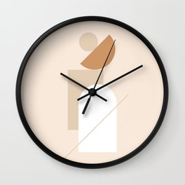 abstract series one (sand) Wall Clock