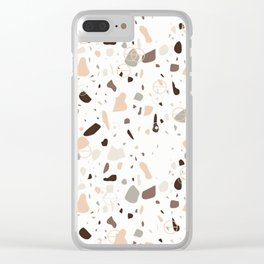 Terrazo marble Clear iPhone Case