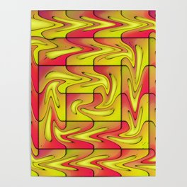 Liquefied abstract Poster