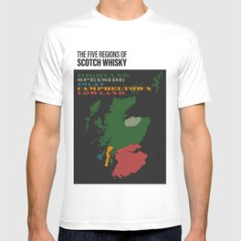 The Five Regions of Scotch Whisky T-shirt