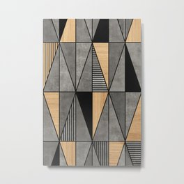 Concrete and Wood Triangles Metal Print