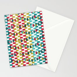 Christmas Lights in Red Stationery Cards