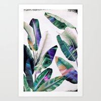 tropical Art Prints featuring tropical #1 by LEEMO