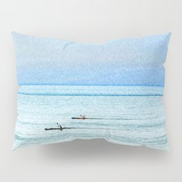Seascape with kayaks watercolor Pillow Sham