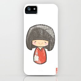 Kokeshi [Special Lucky Toy Box] iPhone Case