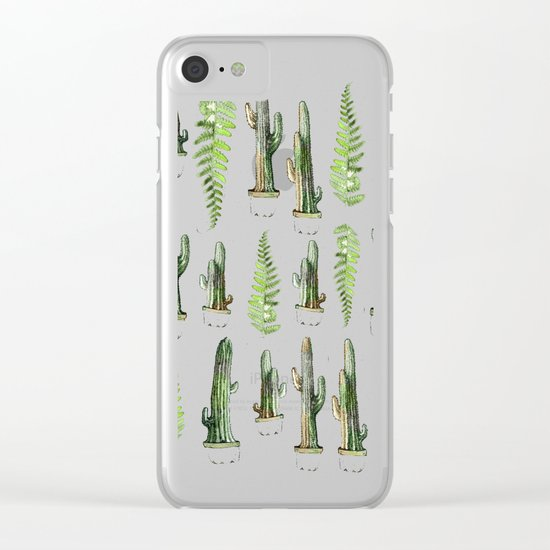 some nature and cactus Clear iPhone Case