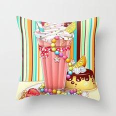 Milkshake Sweetheart Throw Pillow