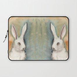 Portrait of a White Rabbit Laptop Sleeve