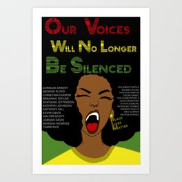 Black Lives Matter (ALT) Art Print