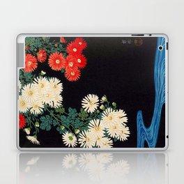 Ohara Koson Chrysanthemums and Running Water 1931 Japanese Woodblock Print Vintage Historical Laptop & iPad Skin