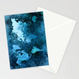 world map blue #map #world Stationery Cards