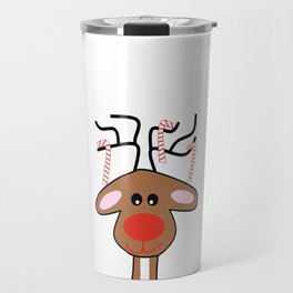 Christmas Reindeer Travel Mug