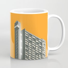 Trellick Tower London Brutalist Architecture - Orange Coffee Mug