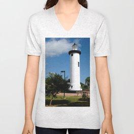 Old Lighthouse @ Rincon Unisex V-Neck