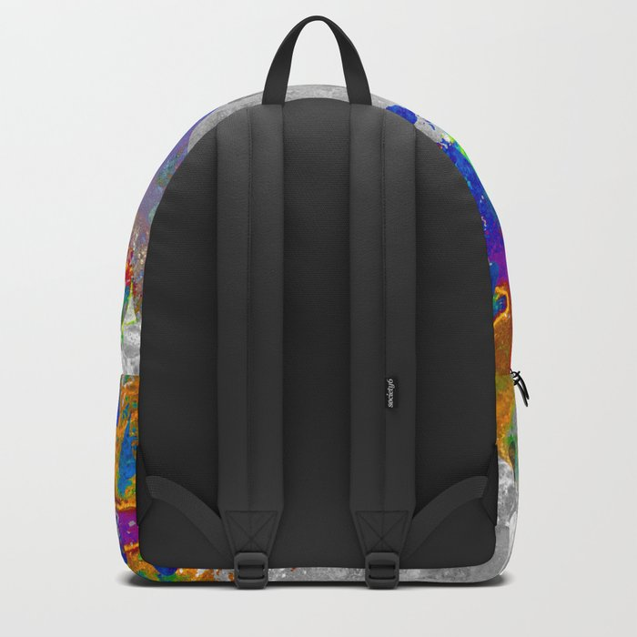 Abstract Colorful Rain Drops Design Backpack