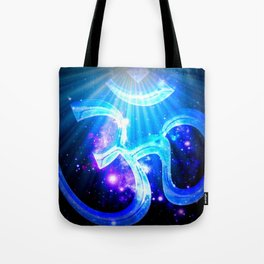 Galaxy Om Blue Purple Tote Bag
