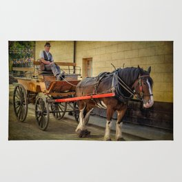Horse And Cart Rug