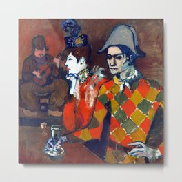 Pablo Picasso At the Lapin Agile Metal Print
