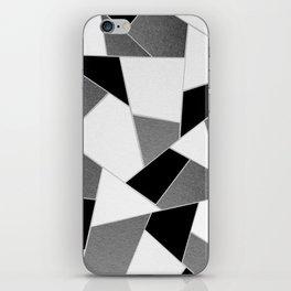 Gray Black White Geometric Glam #1 #geo #decor #art #society6 iPhone Skin
