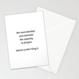 Martin Luther King Inspirational Quote -  Forgive Stationery Cards