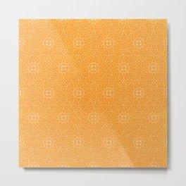 N81 - Yellow Antique Geometric Traditional Islamic Moroccan Alhambra Design. Metal Print