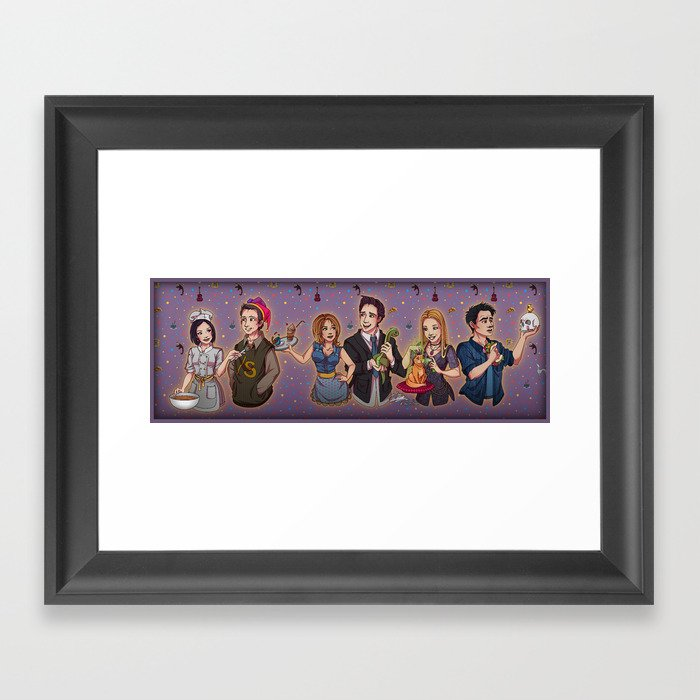 Friends TV Show - Monica Chandler Rachel Ross Phoebe Joey Framed Art ...