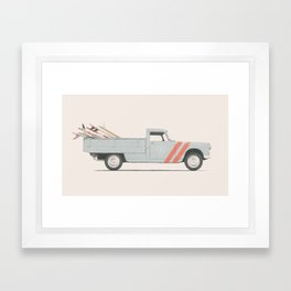 Surfboard Pick Up Van Framed Art Print