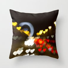 Love Along the Champs Elysees Throw Pillow