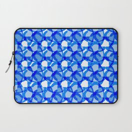 Abstract Rings - Blue Laptop Sleeve