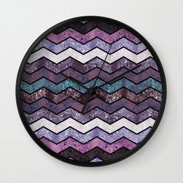 Glitter Waves IV Wall Clock