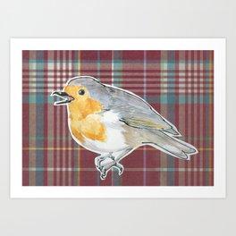 Tartan Robin Art Print