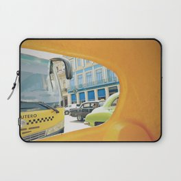 La Habana Vieja, view from the back window of a cocotaxi | Travel Photography Laptop Sleeve