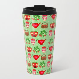 Mini Tiny Strawberry Girl Metal Travel Mug