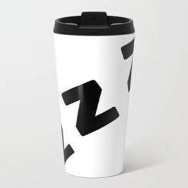 Zzzs in Black Metal Travel Mug