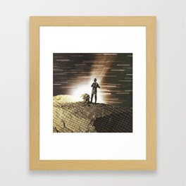 Everything is getting fast Framed Art Print